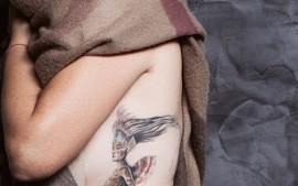 colored fantasy tattoo – farbiges Fantasie Motiv