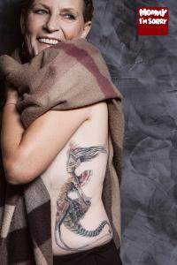 Mommy I'm Sorry color fantasy tattoo realistic