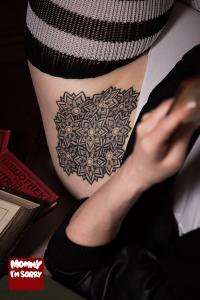 Mommy I'm Sorry mandala tattoo